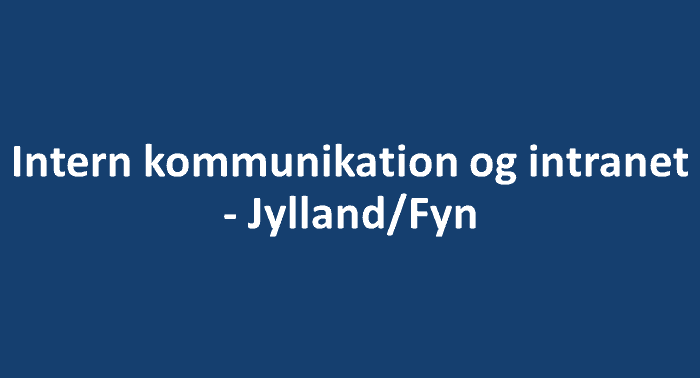Intern kommunikation og intranet - JF