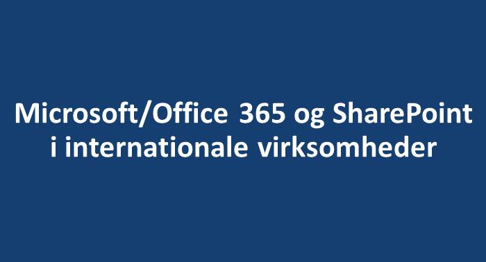 Indhold på Microsoft 365
