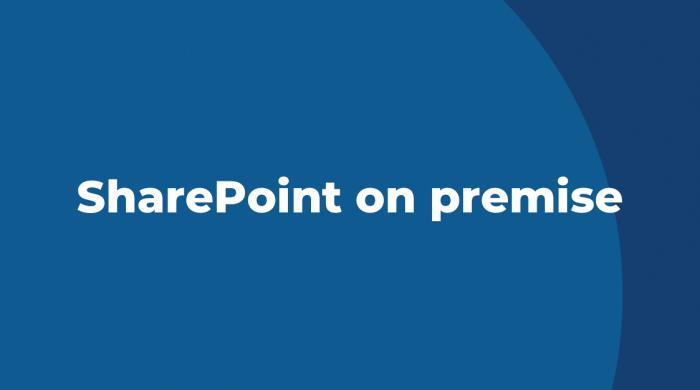 SharePoint on premise